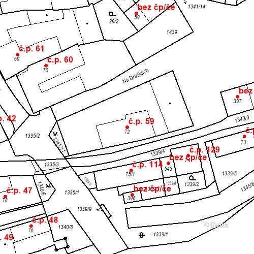 Katastrální mapa Stavební objekt Strunkovice nad Blanicí 59, Strunkovice nad Blanicí