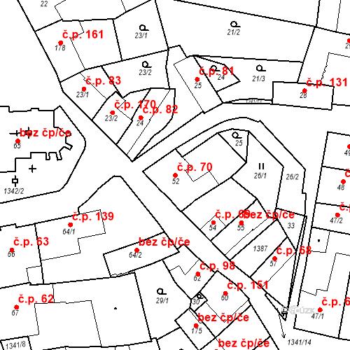 Katastrální mapa Stavební objekt Strunkovice nad Blanicí 70, Strunkovice nad Blanicí