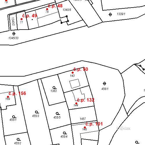 Katastrální mapa Stavební objekt Strunkovice nad Blanicí 50, Strunkovice nad Blanicí