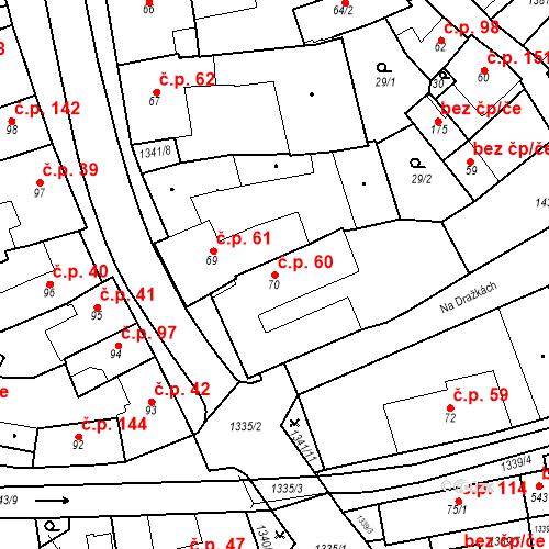 Katastrální mapa Stavební objekt Strunkovice nad Blanicí 60, Strunkovice nad Blanicí