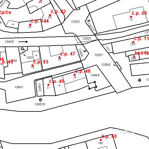 Katastrální mapa Stavební objekt Strunkovice nad Blanicí 48, Strunkovice nad Blanicí