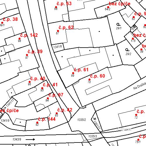 Katastrální mapa Stavební objekt Strunkovice nad Blanicí 61, Strunkovice nad Blanicí