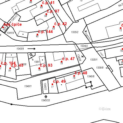 Katastrální mapa Stavební objekt Strunkovice nad Blanicí 47, Strunkovice nad Blanicí