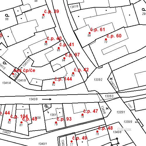Katastrální mapa Stavební objekt Strunkovice nad Blanicí 42, Strunkovice nad Blanicí