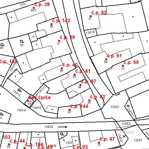 Katastrální mapa Stavební objekt Strunkovice nad Blanicí 41, Strunkovice nad Blanicí