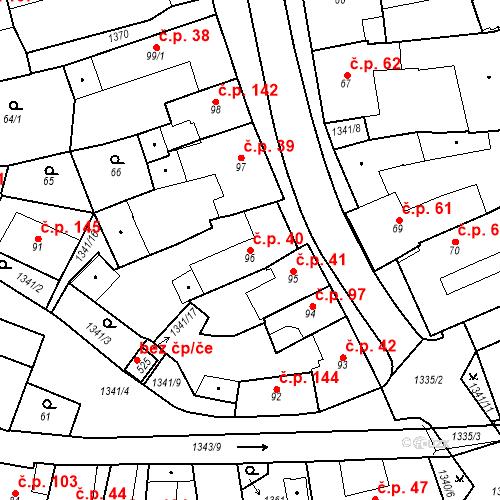 Katastrální mapa Stavební objekt Strunkovice nad Blanicí 40, Strunkovice nad Blanicí