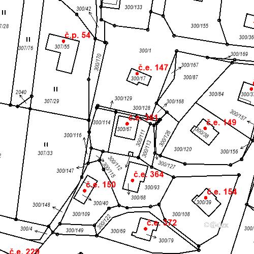 Katastrální mapa Stavební objekt Milná 361, Frymburk