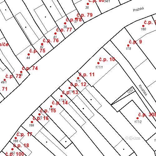 Katastrální mapa Stavební objekt Cerhovice 11, Cerhovice