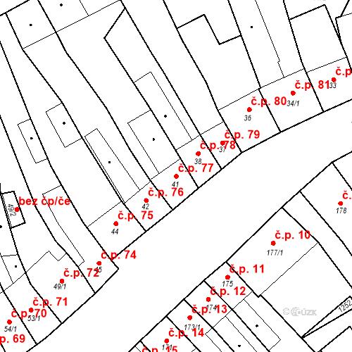 Katastrální mapa Stavební objekt Cerhovice 77, Cerhovice