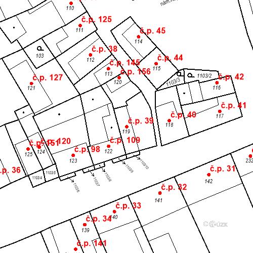 Katastrální mapa Stavební objekt Cerhovice 39, Cerhovice
