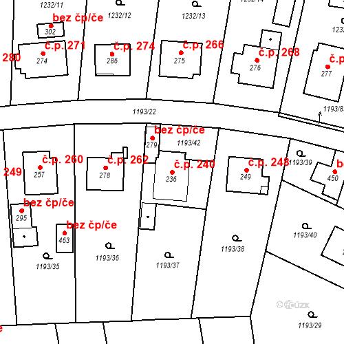 Katastrální mapa Stavební objekt Bělčice 240, Bělčice