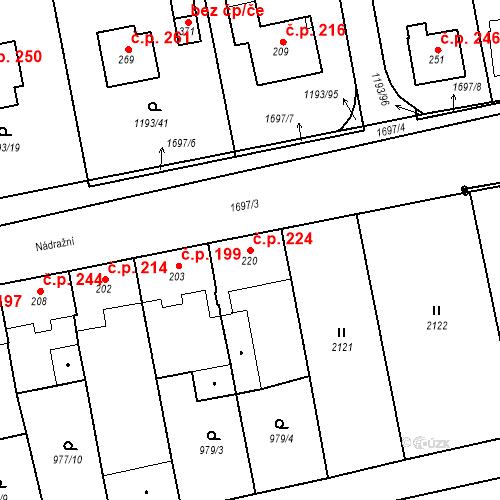 Katastrální mapa Stavební objekt Bělčice 224, Bělčice