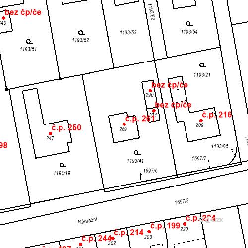 Katastrální mapa Stavební objekt Bělčice 261, Bělčice