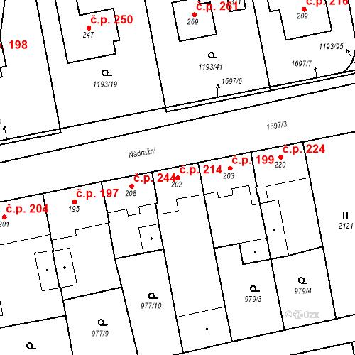 Katastrální mapa Stavební objekt Bělčice 214, Bělčice