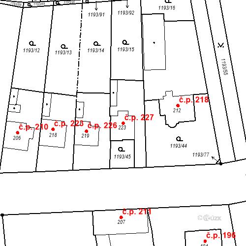 Katastrální mapa Stavební objekt Bělčice 227, Bělčice