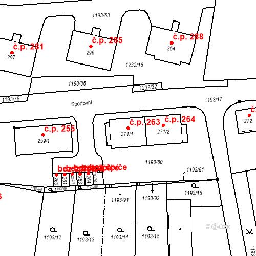 Katastrální mapa Stavební objekt Bělčice 263, Bělčice