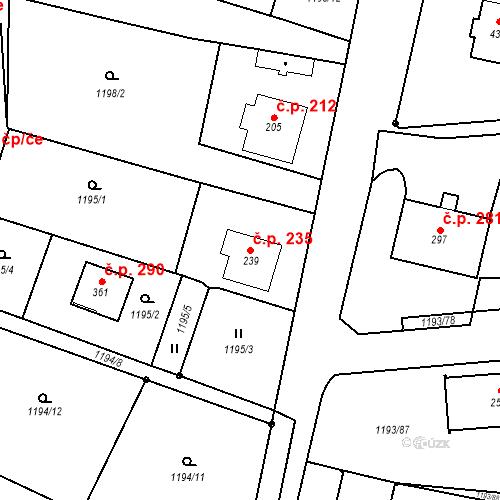 Katastrální mapa Stavební objekt Bělčice 235, Bělčice