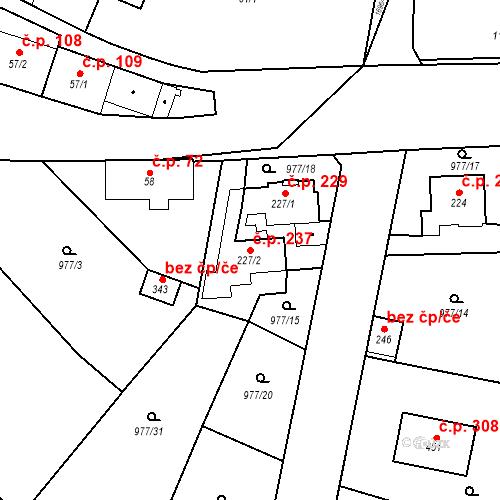 Katastrální mapa Stavební objekt Bělčice 237, Bělčice