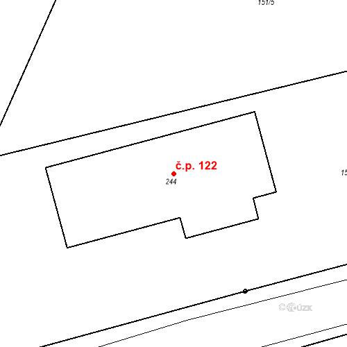 Katastrální mapa Stavební objekt Řepice 122, Řepice