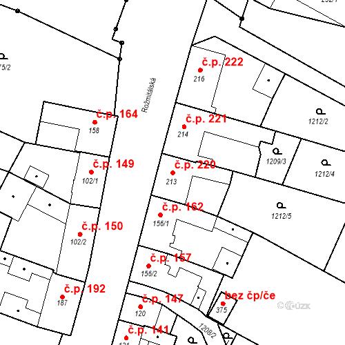 Katastrální mapa Stavební objekt Bělčice 220, Bělčice