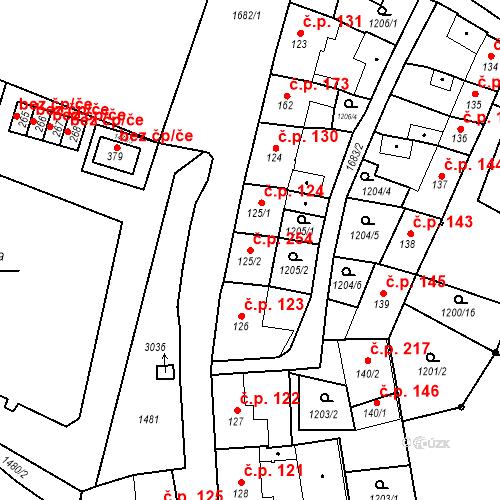 Katastrální mapa Stavební objekt Bělčice 254, Bělčice