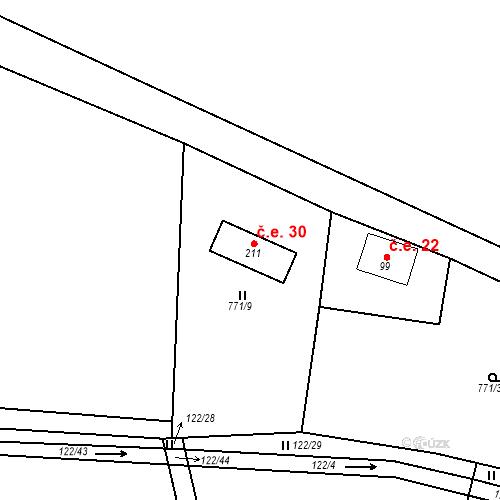 Katastrální mapa Stavební objekt Nepomuk 30, Nepomuk