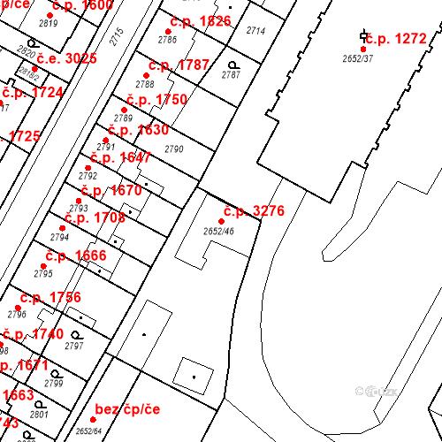 Katastrální mapa Stavební objekt Most 3276, Most