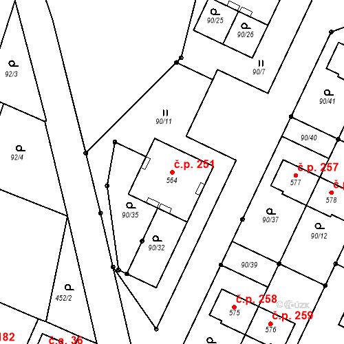 Katastrální mapa Stavební objekt Kařez 251, Kařez