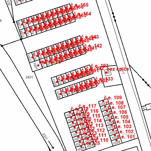 Katastrální mapa Stavební objekt Šumná 190, Litvínov