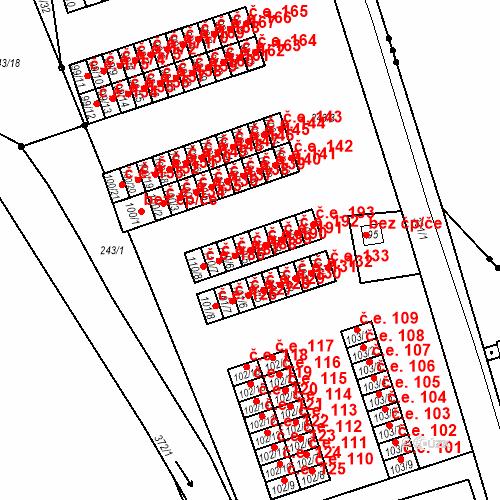 Katastrální mapa Stavební objekt Šumná 189, Litvínov
