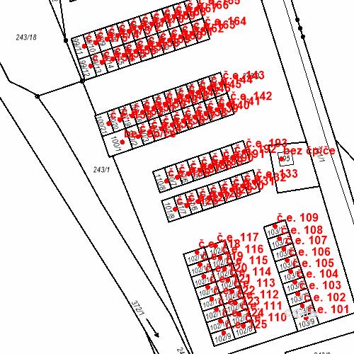 Katastrální mapa Stavební objekt Šumná 187, Litvínov