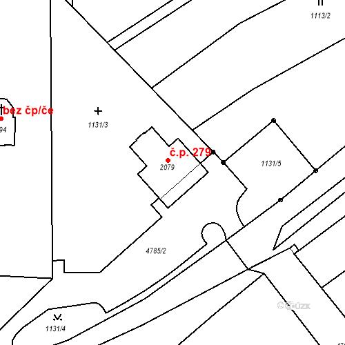 Katastrální mapa Stavební objekt Volary 279, Volary