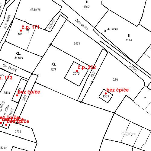 Katastrální mapa Stavební objekt Volary 262, Volary