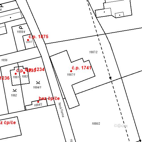Katastrální mapa Stavební objekt Jirkov 1741, Jirkov