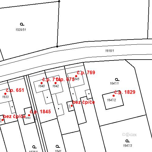 Katastrální mapa Stavební objekt Jirkov 769, Jirkov