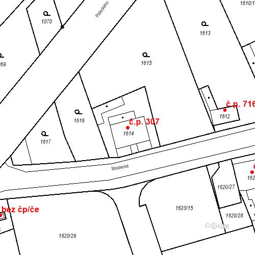 Katastrální mapa Stavební objekt Jirkov 307, Jirkov