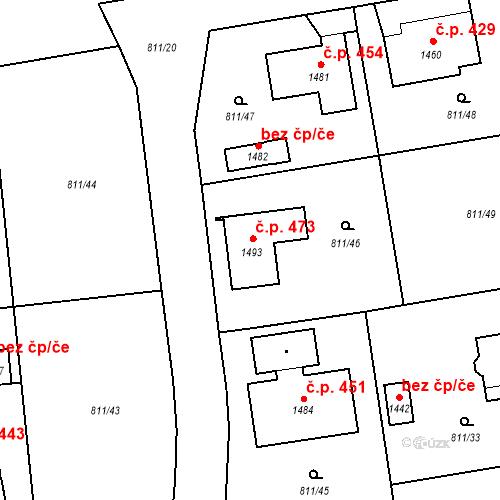 Katastrální mapa Stavební objekt Volduchy 473, Volduchy