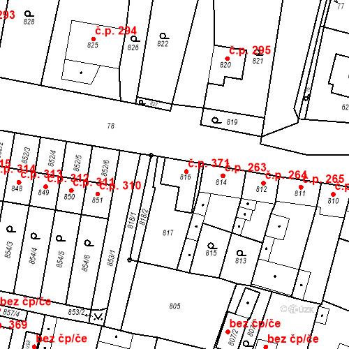 Katastrální mapa Stavební objekt Čistá 371, Čistá