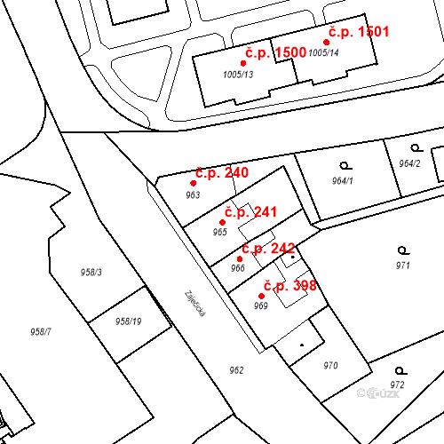 Katastrální mapa Stavební objekt Jirkov 241, Jirkov