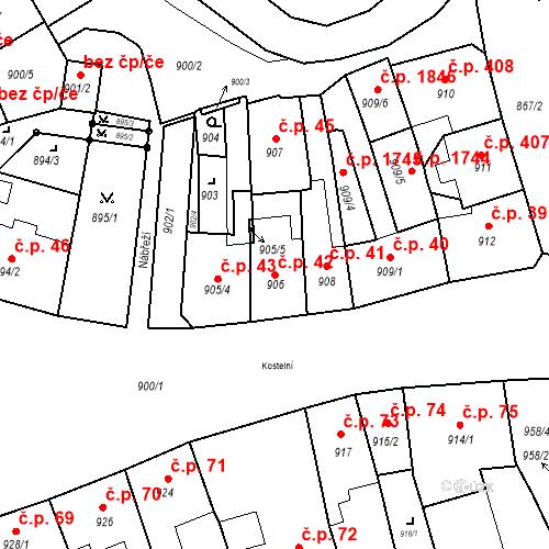 Katastrální mapa Stavební objekt Jirkov 42, Jirkov