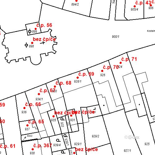 Katastrální mapa Stavební objekt Jirkov 69, Jirkov