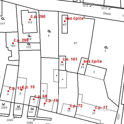 Katastrální mapa Stavební objekt Otvice 161, Otvice