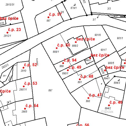 Katastrální mapa Stavební objekt Jirkov 94, Jirkov