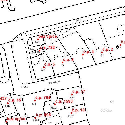 Katastrální mapa Stavební objekt Jirkov 4, Jirkov