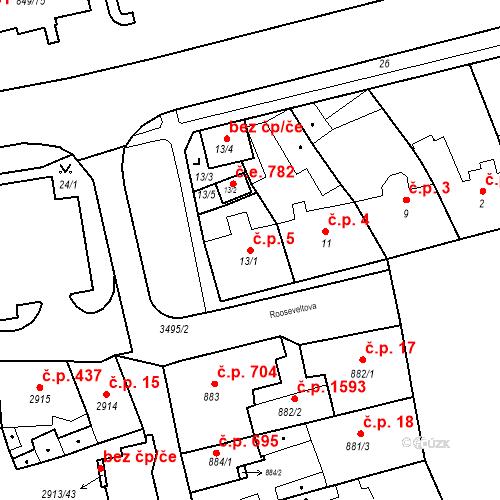 Katastrální mapa Stavební objekt Jirkov 5, Jirkov