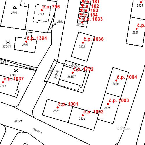 Katastrální mapa Stavební objekt Jirkov 1752, Jirkov