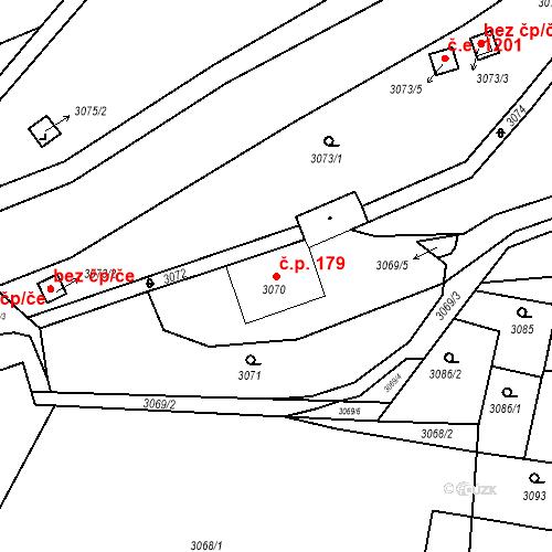 Katastrální mapa Stavební objekt Jirkov 179, Jirkov