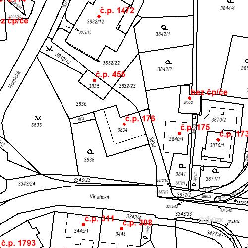 Katastrální mapa Stavební objekt Jirkov 176, Jirkov