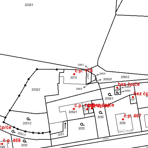 Katastrální mapa Stavební objekt Jirkov 178, Jirkov