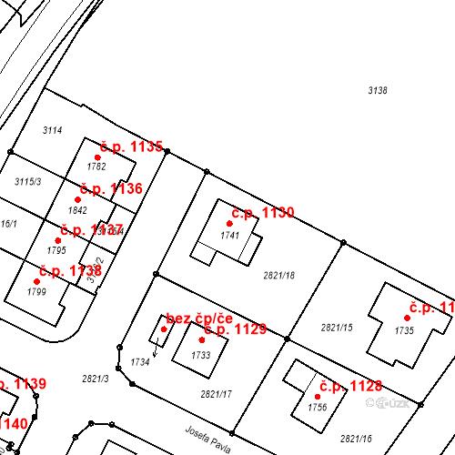 Katastrální mapa Stavební objekt Horažďovice 1130, Horažďovice